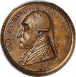 1790 Manly Medal. Original Dies. Musante GW-10, Baker-61B. Brass. Specimen-64 (PCGS).