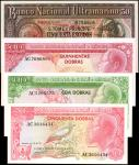 SAINT THOMAS & PRINCE. Banco Nacional de S. Tome e Principe. 50, 100 & 500 Dobras, 1956-77. P-37, 52