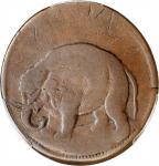 Undated (ca. 1694) London Elephant Token. Hodder 2-B, W-12040. Rarity-2. GOD PRESERVE LONDON, Thin P