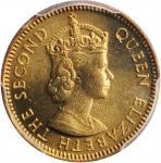 1971-KN年香港五仙。样币。HONG KONG. 5 Cents, 1971-KN. Kings Norton Mint. PCGS SPECIMEN-67 Gold Shield.