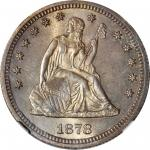 1878-S Liberty Seated Quarter. Briggs 1-A, the only known dies. MS-65 (NGC).