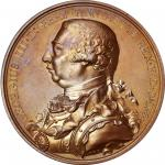 Undated (circa 1820) George III Hudson's Bay Company Indian Peace medal. Copper, Bronzed. Eimer-1120