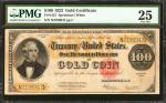 Fr. 1215. 1922 $100 Gold Certificate. PMG Very Fine 25.
