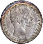 ITALY. 5 Lire, 1879-R. PCGS MS-63 Secure Holder.