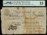 1818年英格兰银行亨利5镑 PMG Choice F 15