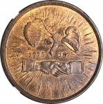 1875 Mecklenberg Centennial. Copper. 30 mm. Julian CM-28, Swoger-2. MS-65 RB (NGC).