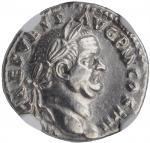 VESPASIAN, A.D. 69-79. AR Denarius (3.20 gms), Rome Mint, A.D. 72-73. NGC AU, Strike: 4/5 Surface: 3
