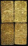 日本 天保一分判金 Tenpo 1Bu-Ban-Kin 天保8年~安政5年(1837~58)  计4枚组 4pcs  (VF+)美品