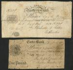 Upottery Bank (Blackmore & Austin), £1, 1 November 1813, serial number 228, black and white, monogra