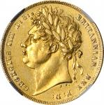 GREAT BRITAIN. Sovereign, 1821. NGC AU Details--Excessive Surface Hairlines.