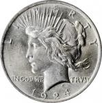 1924 Peace Silver Dollar. MS-65 (PCGS).