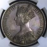 1847年英国维多利亚像银币 NGC PF 62