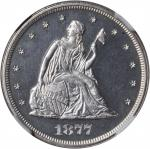 1877 Twenty-Cent Piece. Proof-63+ Cameo (NGC).