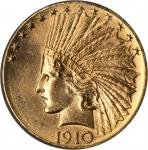 1910-D Indian Eagle. Unc Details--Improperly Cleaned (NCS).