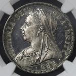GREAT BRITAIN Victoria ヴィクトリア(1837~1901) 1/2Crown 1893  NGC-PF64 Cameo Proof UNC+