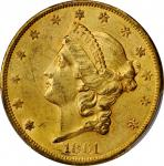 1861-S Liberty Head Double Eagle. AU-58 (PCGS).