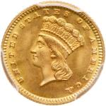 1870 $1 Gold Indian. PCGS MS67