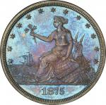 1875 Pattern Liberty by the Seashore Twenty Cents. Judd-1403, Pollock-1546. Rarity-6+. Silver. Plain