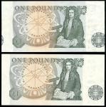 Bank of England, J. B. Page, ERROR £1, ND (1978), serial number 70N 764709, green, Queen Elizabeth I