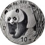 2001年-2007年熊猫纪念银币1盎司 NGC MS