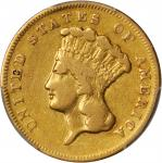 1869 Three-Dollar Gold Piece. VF Details--Cleaned (PCGS).