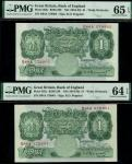 Bank of England, Kenneth Oswald Peppiatt (1934-1949), consecutive run of 1 (20), ND (1934), serial n