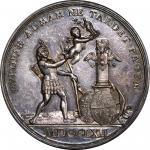 1762 Europe Hopes for Peace Medal. Betts-442. Silver. Specimen-64 (PCGS).