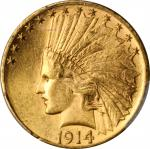 1914-D Indian Eagle. MS-62 (PCGS).