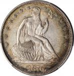 1876 Liberty Seated Half Dollar. WB-101. Type I Reverse. AU-55 (PCGS).