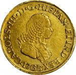 COLOMBIA. 2 Escudos, 1763-J. Popayan Mint. Charles III (1759-88). PCGS VF-35 Gold Shield.
