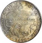 COLOMBIA. 1846-RS 8 Reales. Bogotá mint. Restrepo 194.15. MS-61 (PCGS).