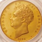 英国 (Great Britain) ジョージ4世像 5ポンド金貨 1826年 KM702 / George IV 5 Pounds Gold Proof