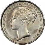 Victoria (1837-1901), Shilling, 1850, second young head left, rev. crown over value in wreath (ESC 2