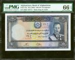 AFGHANISTAN. Bank of Afghanistan. 50 Afghanis, ND (1939). P-25a. PMG Gem Uncirculated 66 EPQ.