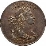 1796 Draped Bust Cent. S-112. Rarity-4+. Reverse of 1794. MS-63 BN (PCGS).