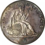 1839 Gobrecht Silver Dollar. Name Removed. Judd-104 Restrike, Pollock-116. Rarity-3. Silver. Reeded