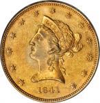 1841 Liberty Eagle. AU-58 (PCGS).