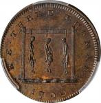 Great Britain--Middlesex. 1796 The Three Thomases Farthing Token. D&H-1123a, W-8986. Copper. Plain E
