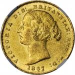 AUSTRALIA. Sovereign, 1867. NGC MS-60.
