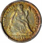 1871 Liberty Seated Half Dime. Proof-66 (PCGS). CAC.