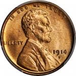 1914-D Lincoln Cent. MS-65 RD (PCGS).