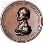 1845 James K. Polk Indian Peace Medal. Copper, Bronzed. Second Size. First Reverse. Julian IP-25, Pr