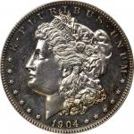 1904 Morgan Silver Dollar. Proof-63 (PCGS). CAC.