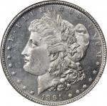 1891-CC Morgan Silver Dollar. MS-64 PL (NGC).