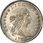 1799/8 Draped Bust Silver Dollar. BB-142, B-1. Rarity-4. 13-Star Reverse. MS-64 (NGC).