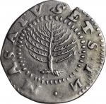 1652 Pine Tree Shilling. Large Planchet. Noe-11, Salmon 9-F, W-760. Rarity-4. No H in MASATVSETS. EF