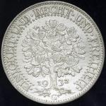 GERMANY Weimar Rep ワイマー儿共和国 5Reichsmark 1932G 返品不可 要下见 Sold as is No returns EF+