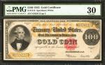 Fr. 1215. 1922 $100 Gold Certificate. PMG Very Fine 30.