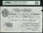 Bank of England, K.O. Peppiatt, £10, London 18 January 1936, prefix K161, black and white, ornate cr