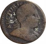 1786 Connecticut Copper. Miller 2.2-D.2, W-2475. Rarity-6. Mailed Bust Right, Broad Shouldered or No
